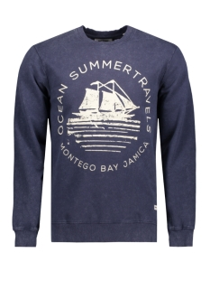 Only & Sons Trui onsDEREK WASHED PRINTED CREW NECK E Mood Indigo