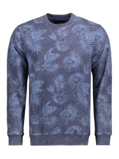 Only & Sons Sweater onsKARSON WASHED AOP CREW NECK EXP 22006552 Mood Indigo