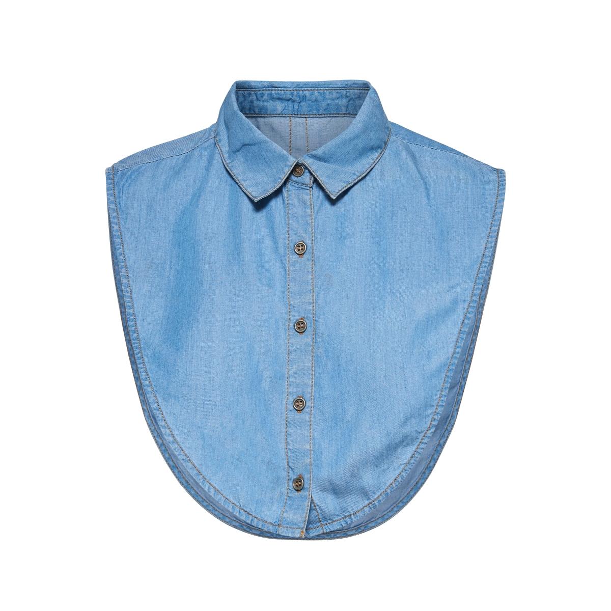 onlshelly cory denim collar acc 15142964 only accessoire light blue denim