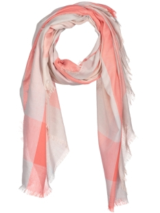 Only Sjaal onlSANDRA WEAVED CHECK SCARF ACC 15134398 Vapor Blue/ Peach Whip