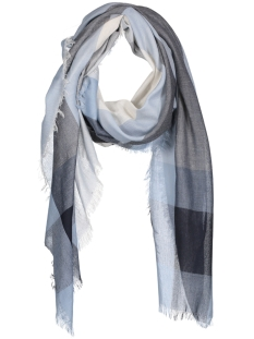 Only Sjaal onlSANDRA WEAVED CHECK SCARF ACC 15134398 Night Sky/ Cloud Dancer