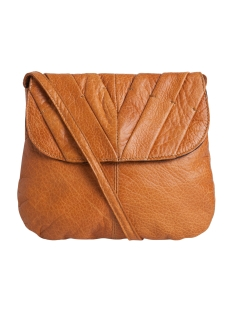 Pieces Tas PCLILAC LEATHER CROSS BODY 17079622 Cognac