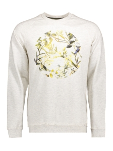 onsSANTO FRONTPRINT CREW NECK 22005612 Oatmeal