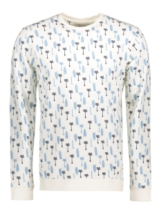 Only & Sons Sweater onsLARRY PALM AOP CREW NECK 22006636 Cloud Dancer