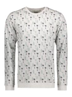 Only & Sons Sweater onsLARRY PALM AOP CREW NECK 22006636 Light Grey Melange