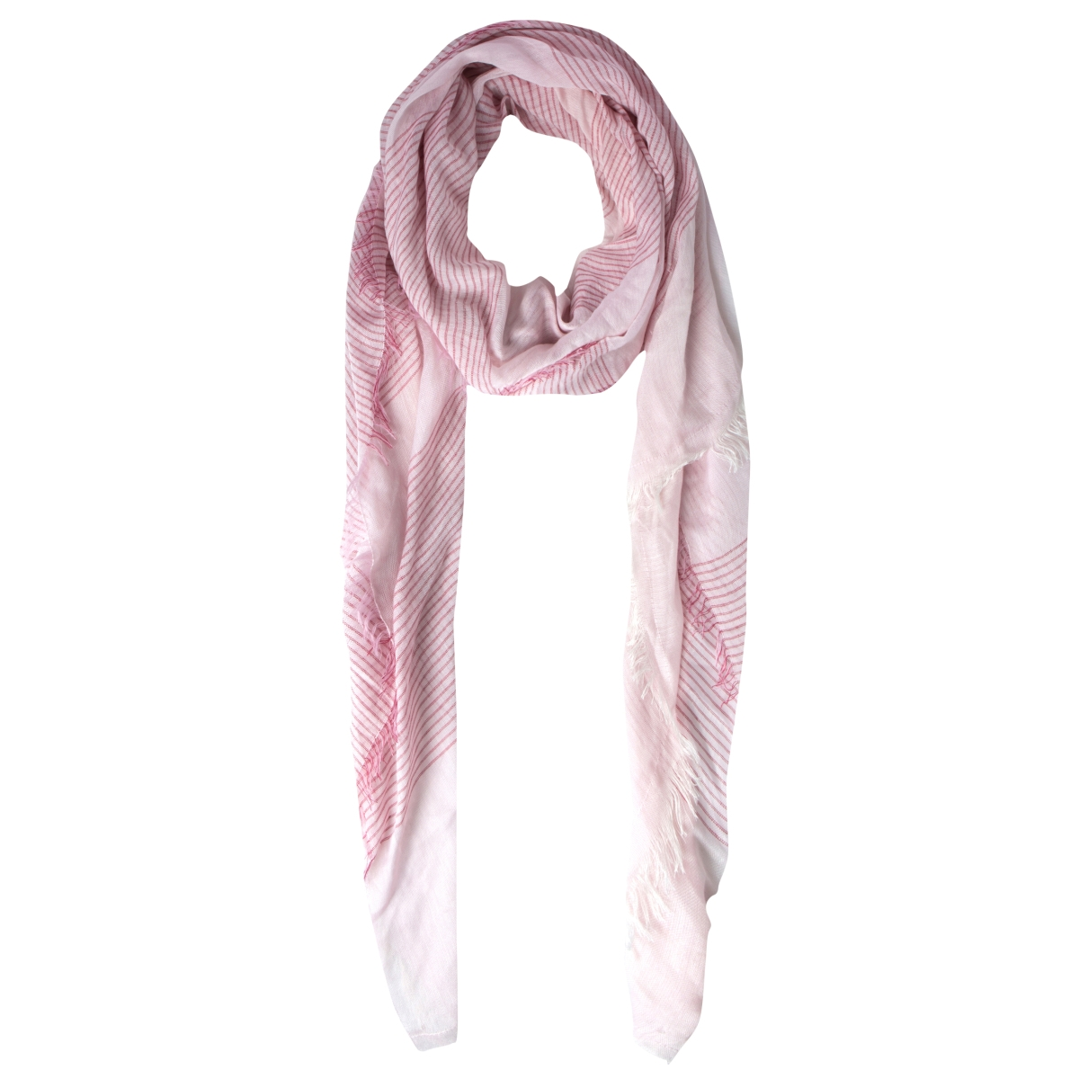 pckean long scarf 17082397 pieces sjaal cameo pink