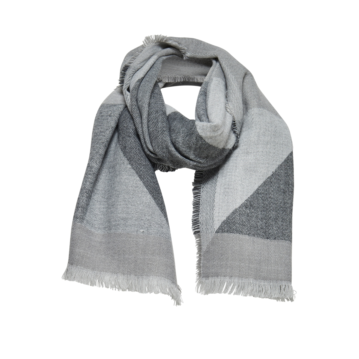 onlnes weaved block scarf acc 15139588 only sjaal iron gate/ black clo