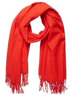 Vero Moda Sjaal VMSOLID LONG SCARF NOOS 10137899 Flame Scarlet