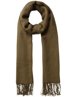 pckial long scarf noos 17057386 pieces sjaal dark olive