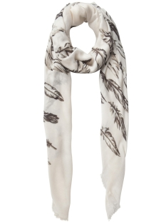 pcrosabella long scarf 17085223 pieces sjaal whitecap/ gray