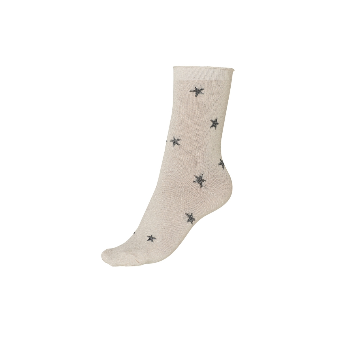 vmglitter star socks 10186652 vero moda accessoire rose cloud