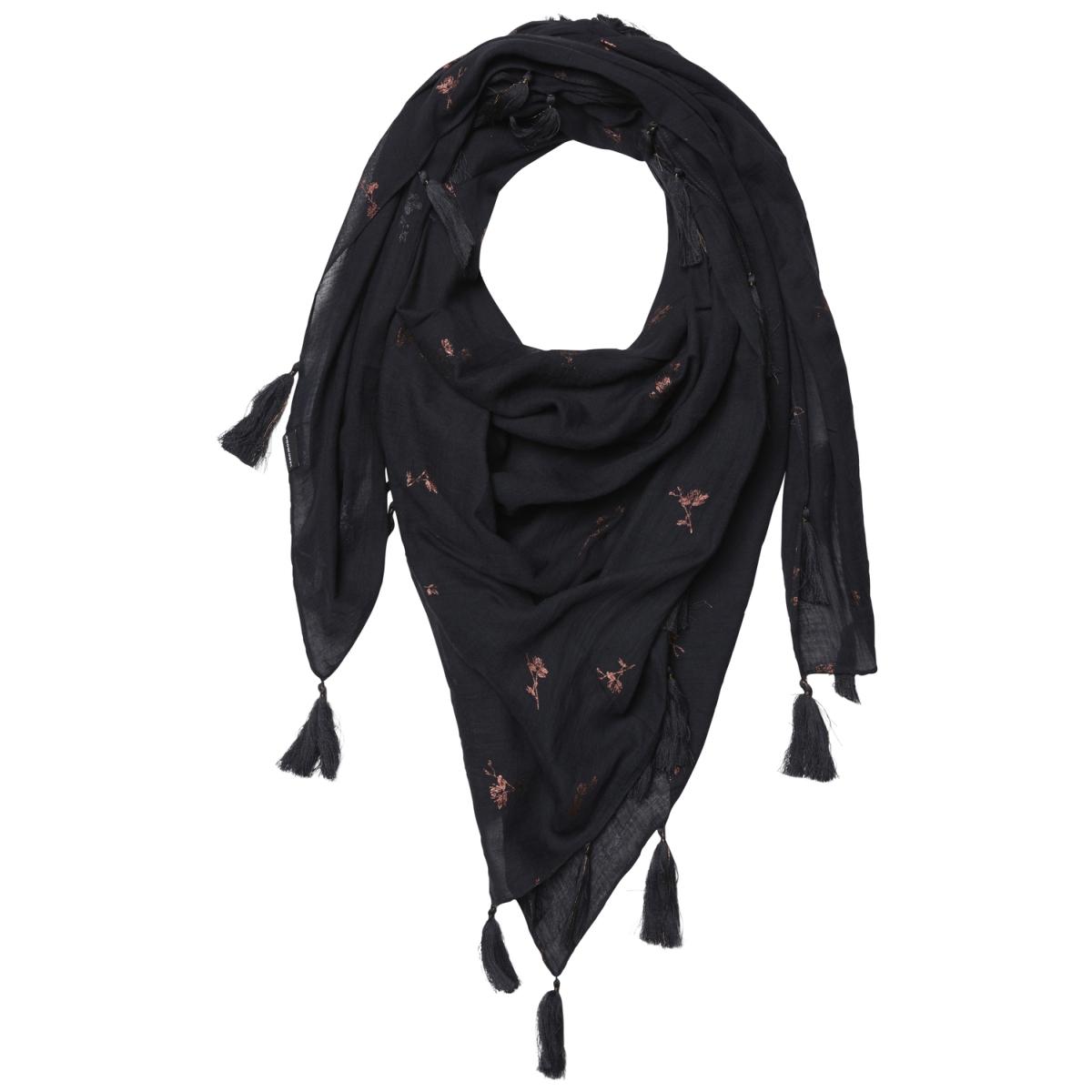 vmfiona square scarf 10188226 vero moda sjaal black
