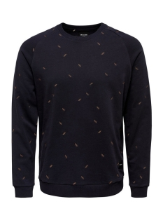 Only & Sons Trui onsCHESTER SMALL AOE CREW NECK 22007538 Dark Navy