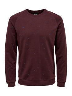 Only & Sons Trui onsCHESTER SMALL AOE CREW NECK 22007538 Fudge