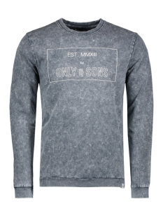 Only & Sons Trui onsTRENT PRINTED SWEAT 22008251 Blueberry
