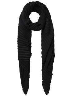 pcreem long scarf 17086054 pieces sjaal black