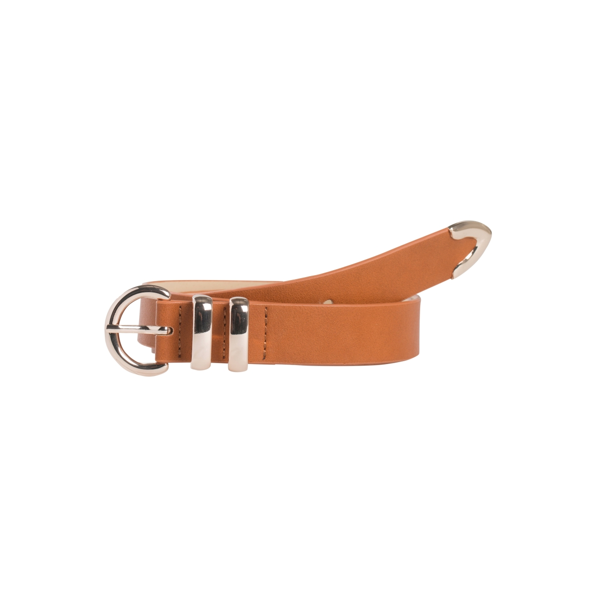 pcjosefine jeans belt 17083422 pieces riem cognac