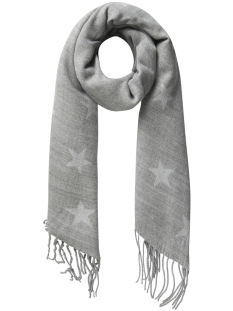 pcrosaline long scarf 17085248 pieces sjaal medium grey melange