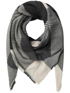 pcasta square scarf pb 17085771 pieces sjaal whitecap grey/medium grey
