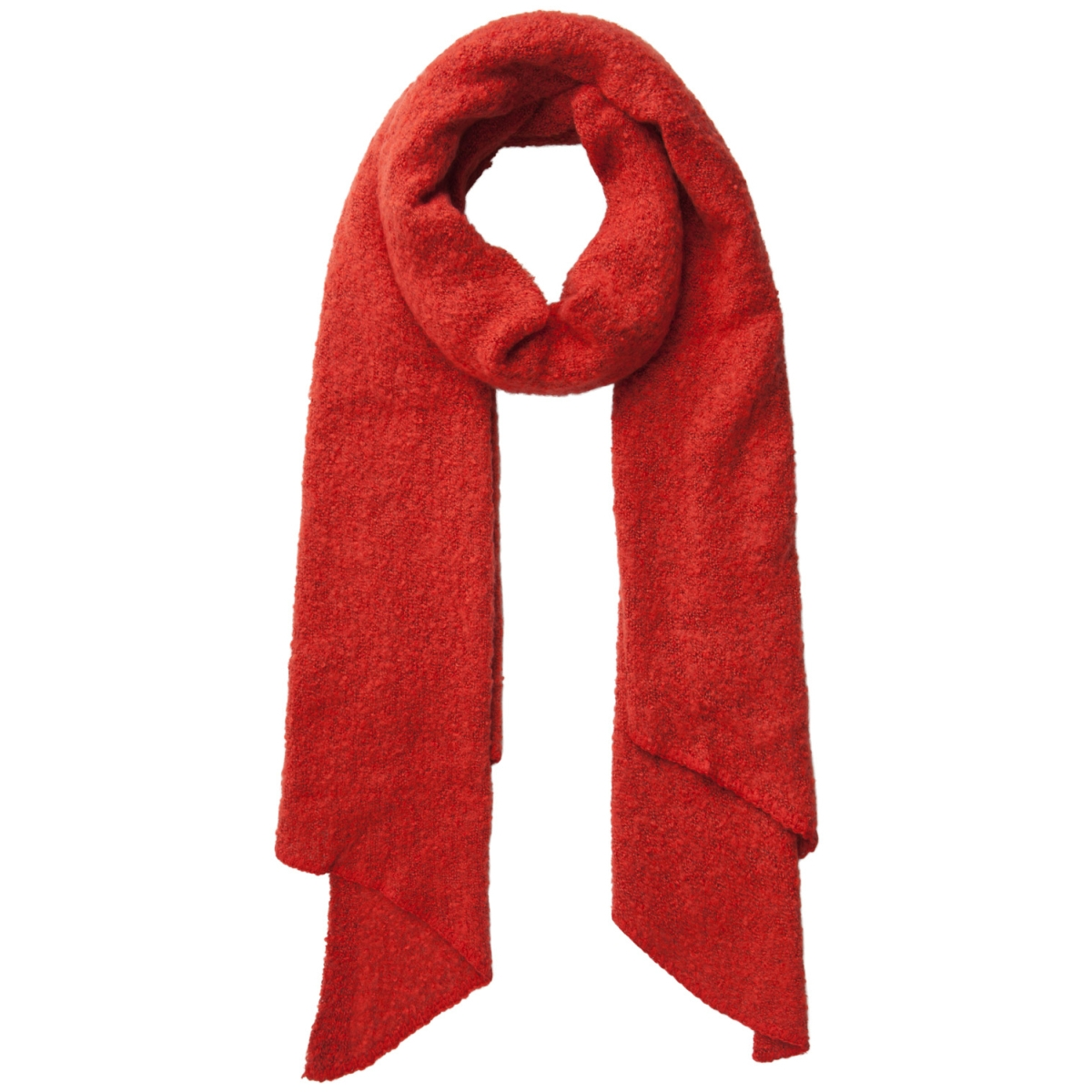 pcpyron long scarf noos 17076047 pieces sjaal tomato
