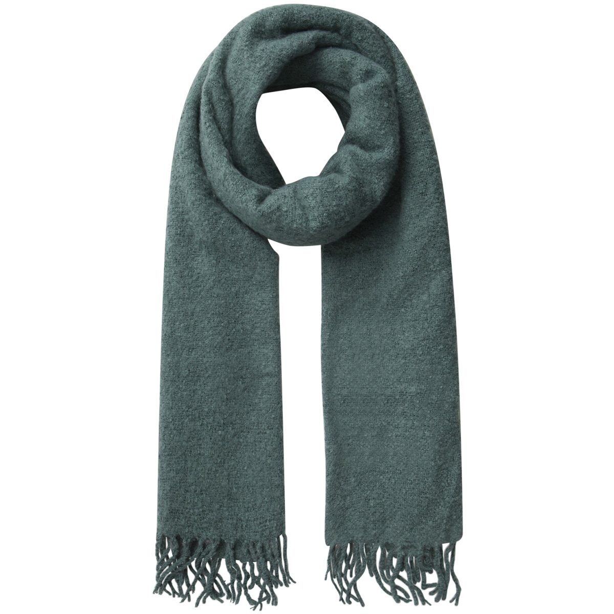 pcagnes long scarf pb 17085775 pieces sjaal silver pine/solid