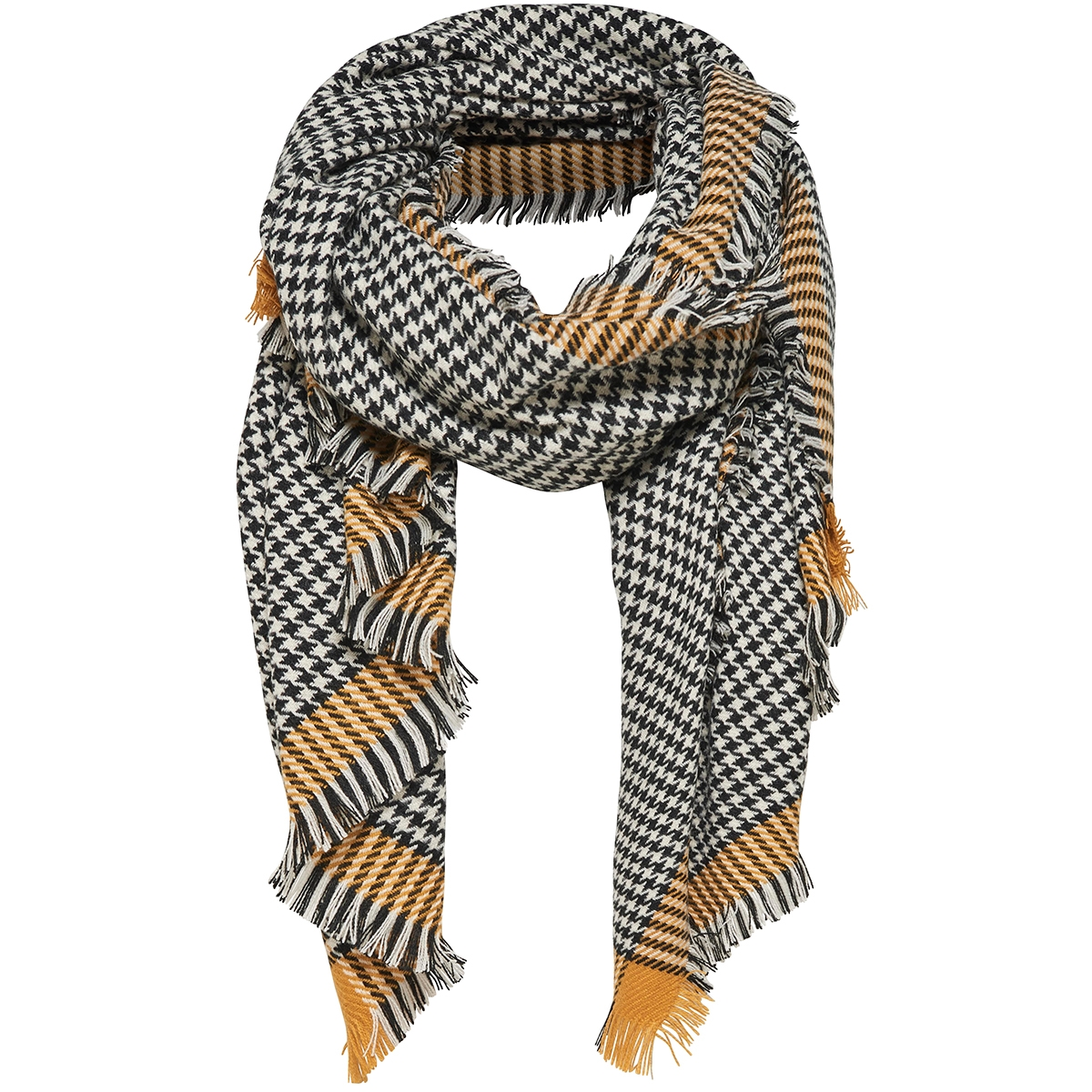 onlsydney weaved check scarf acc 15145152 only sjaal chai tea / black