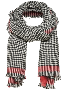 Only Sjaal onlSYDNEY WEAVED CHECK SCARF ACC 15145152 Aurora Red / Black