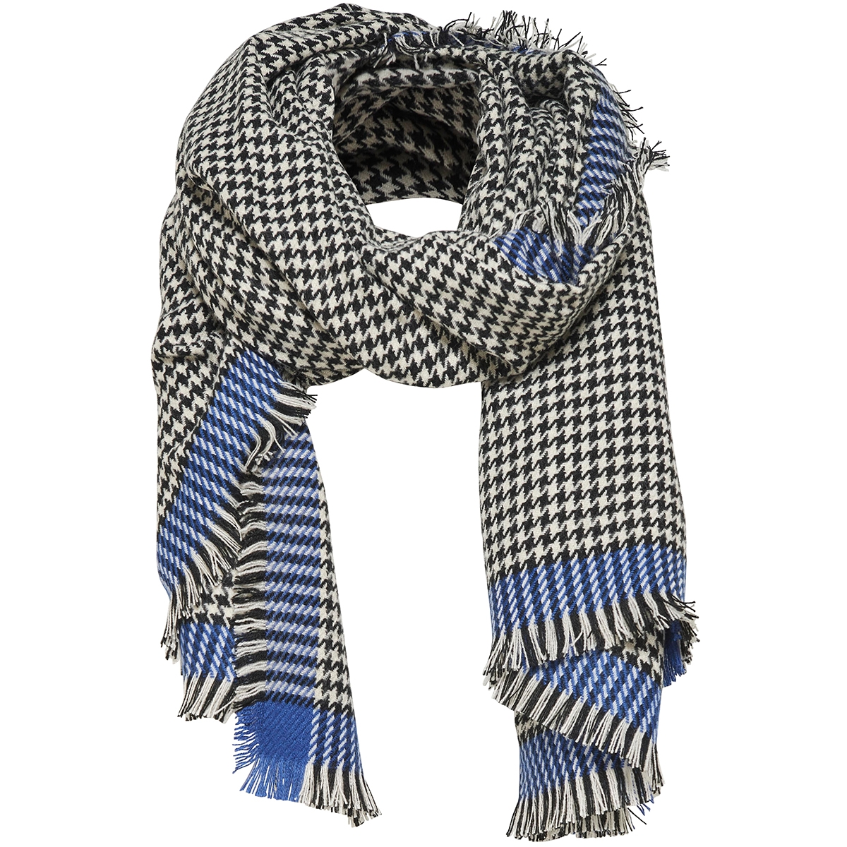 onlsydney weaved check scarf acc 15145152 only sjaal surf the web / black
