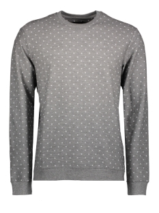 Only & Sons Sweater onsTRO AOP SWEAT 22008257 Medium Grey Melange