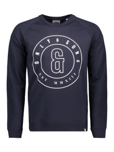 Only & Sons Sweater onsFANA LOGO SWEAT CREW NECK Dark Sapphire