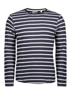 onsmarvin striped crew neck noos 22008598 only & sons sweater dark sapphire