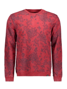 Only & Sons Sweater onsKASPER PRINT SWEAT 22009196 Red Dahlia