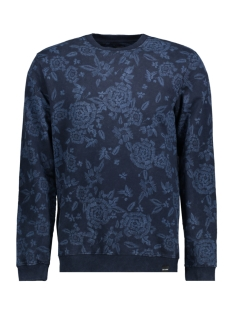 Only & Sons Sweater onsKASPER PRINT SWEAT 22009196 Dark Sapphire