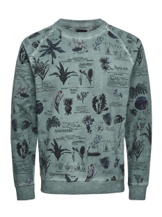 Only & Sons Sweater onsROGAN AOP SWEAT REG 22010137 Aquifer