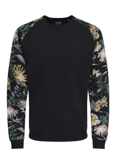 Only & Sons Sweater onsKRISTOF AOP SWEAT 22009186 Black