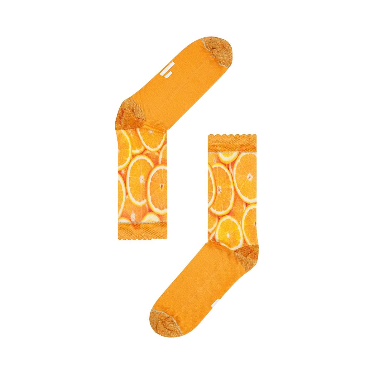 fw18w006 orange sock my feet accessoire multi