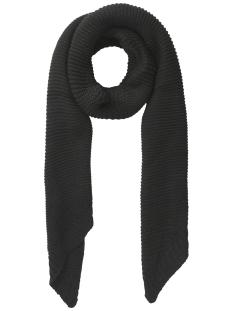 pcdace long wool  scarf noos 17090600 pieces sjaal dark grey melange