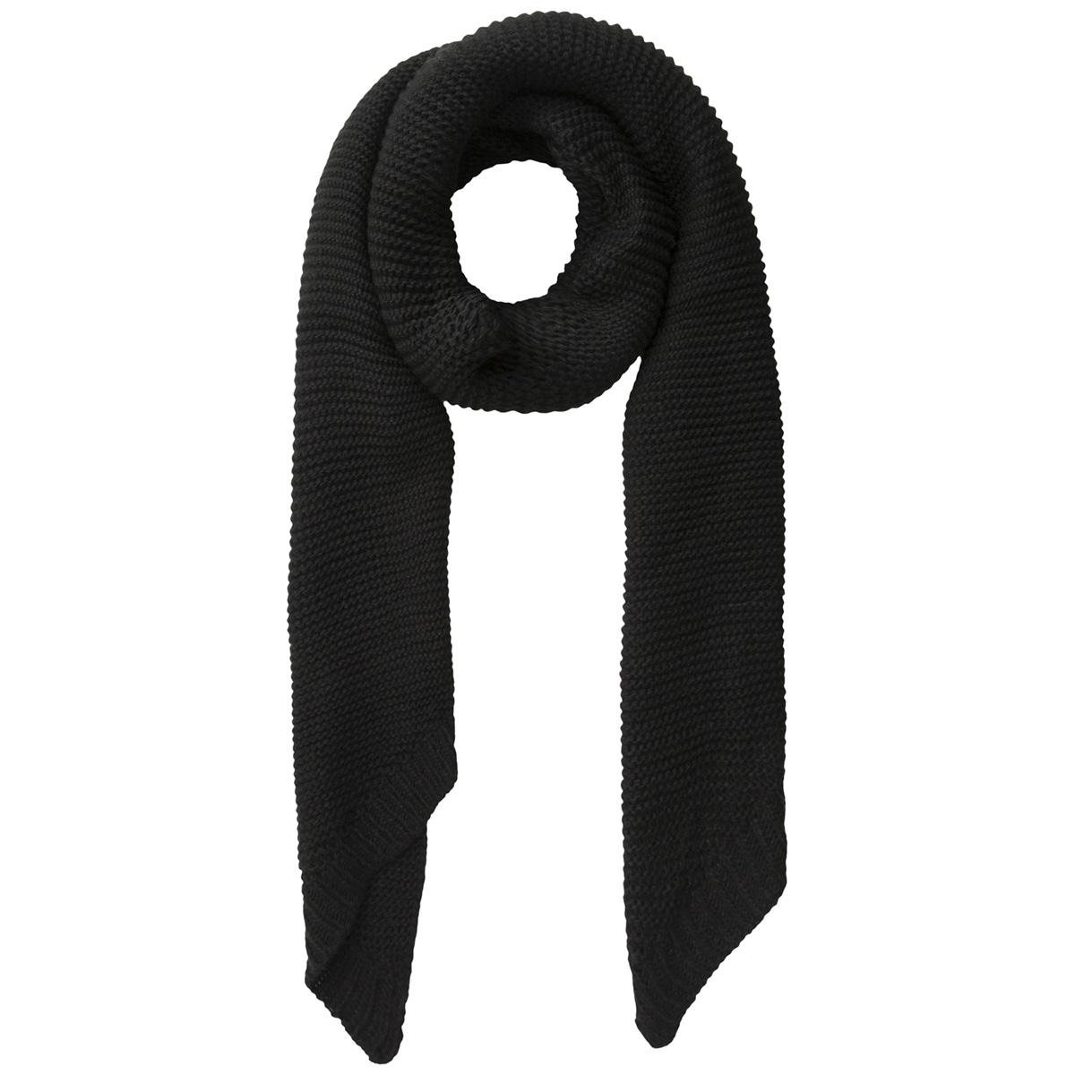 pcdace long wool  scarf noos 17090600 pieces sjaal black