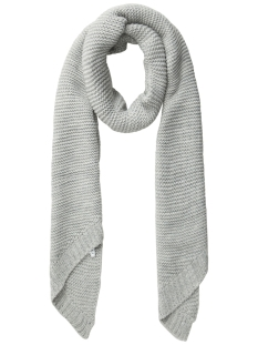 pcdace long wool  scarf noos 17090600 pieces sjaal light grey melange