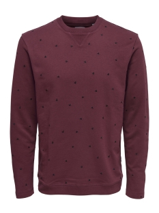 Only & Sons Sweater onsFULTON CREW NECK EXP 22004173 Cabernet