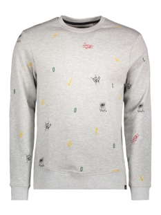Only & Sons Sweater onsWOOLEY AOP CREW NECK SWEAT 22010986 Light Grey Melange