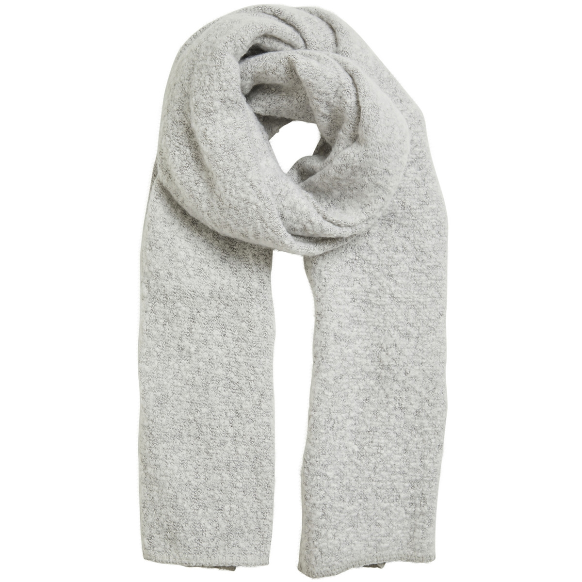 vitobi knit scarf-noos 14047111 vila sjaal light grey melange