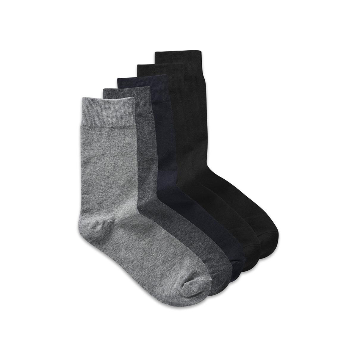 jacjens sock 5 pack noos 12113085 jack & jones accessoire dark grey melange