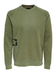 Only & Sons sweater onsWUK CREW NECK SWEAT 22010985 Olive Drab
