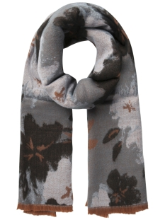 Pieces Sjaal PCFLOWER LONG SCARF 17090798 Stormy Weather