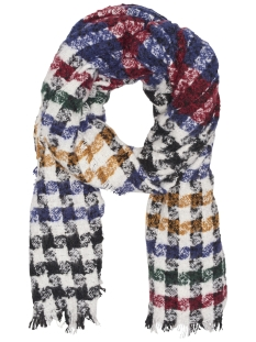 Only Sjaal onlASTRID WEAVED SCARF ACC 15165664 Cloud Dancer/RED/Blue/G