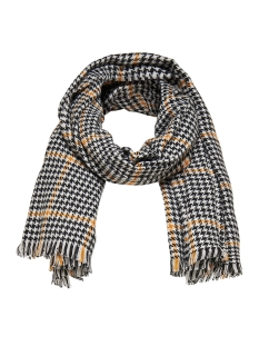 Only Sjaal onlSIA WEAVED SCARF ACC 15160357 Black/CLOUD DANCER/YELLOW