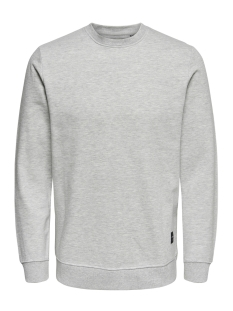 Only & Sons Sweater onsBASIC SWEAT CREW NECK BRUSHED NOOS 22010534 Light Grey Melange