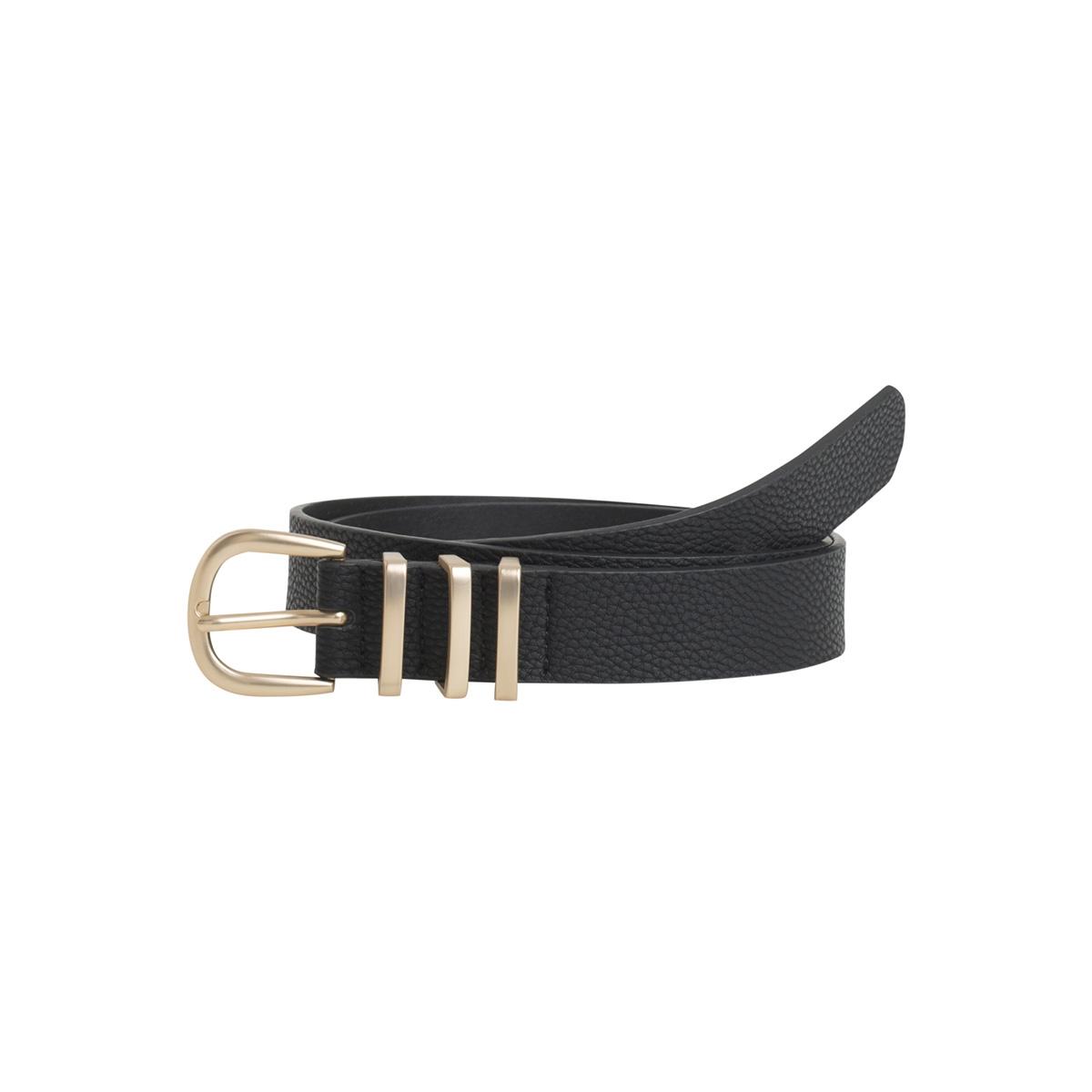 pclea jeans belt noos 17082261 pieces riem black/black w/gold