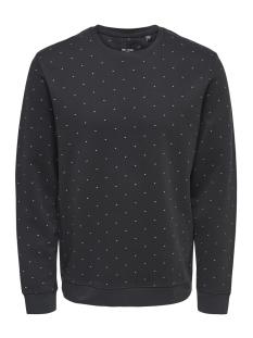 Only & Sons Sweater onsWILFREDO DITSY CREW NECK SWEAT 22011010 Phantom